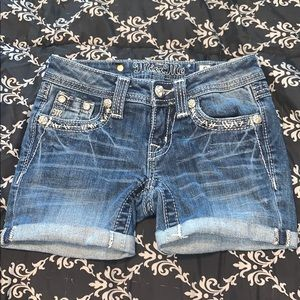 Miss Me denim shorts.  1/0205